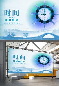 把握时间企业文化海报