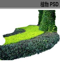 弧形绿化带ps素材 PSD