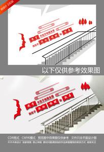教学本质校园楼梯文化墙