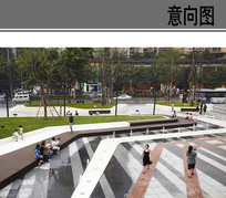 商务广场线性铺装意向 JPG