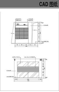 收纳柜CAD立面图cad原始框架图图片