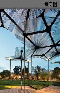 现代创意雨棚意向图 JPG