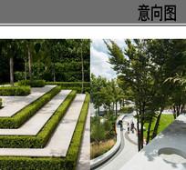 现代阶梯实景景观意向 JPG