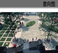 现代人行广场铺装 JPG