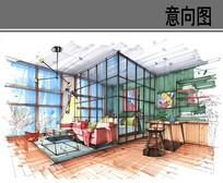 现代小户型室内效果图