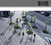 线性特色广场景观