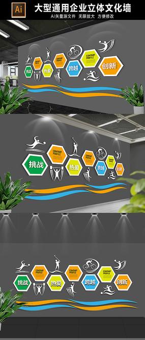 学校体育运动文化墙展板