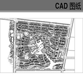 圆形花园小区规划总图