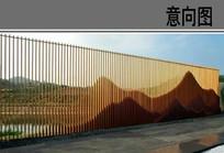 中式景观屏风