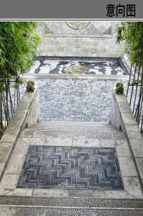 中式庭院铺装意向图 JPG
