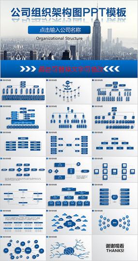 组织架构图模板结构图ppt