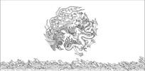 双龙戏水雕刻图案