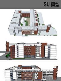 长江大学教学楼 skp