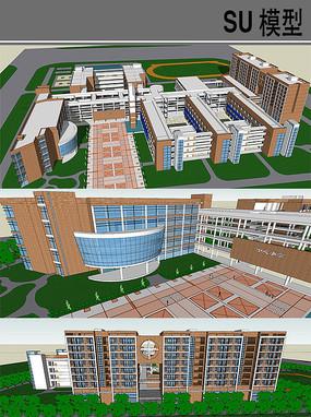 大型学校模型