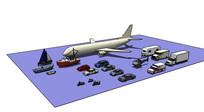 飞机汽车摩托车轮船模型