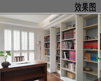 现代装修书房
