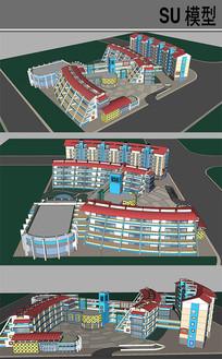 小学教育建筑 skp