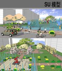 校园中心广场 skp