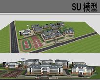 学校建筑规划 skp