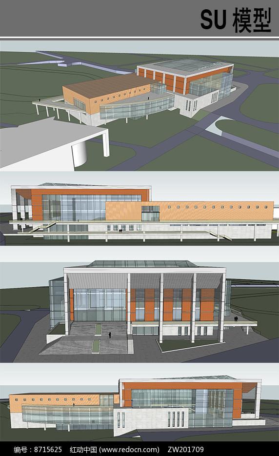 学院风体育馆设计图片
