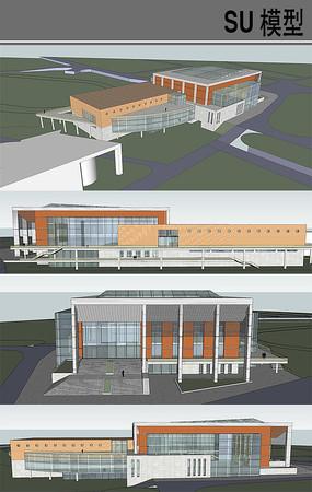 学院风体育馆设计