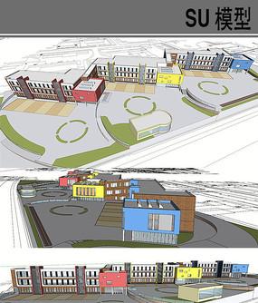 艺术学校建筑模型