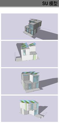 白色简洁集装箱模型