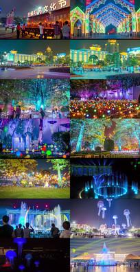 城市灯光节动态视频