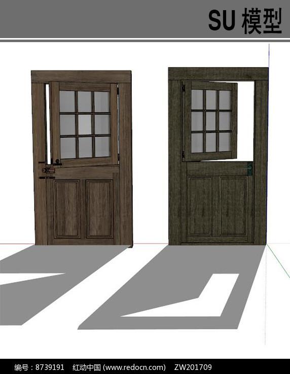 窗门结合模型图片
