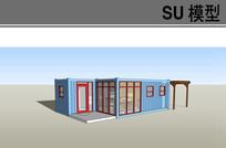 带木构架集装箱工作室
