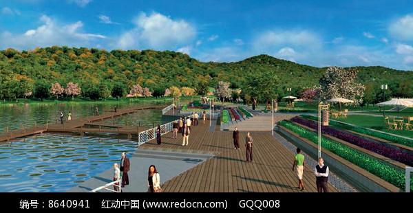 风景区滨水景观效果图图片