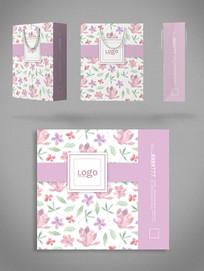 粉色礼品袋商务通用手提袋设计