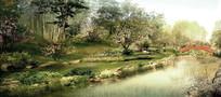 公园景观远期效果图