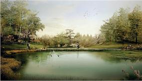 公园水景效果图