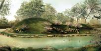 公园微地形景观效果图