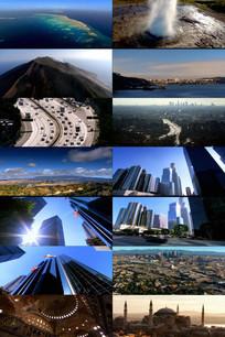 国外城市建筑风貌动态视频