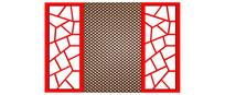 红色边框中式木窗