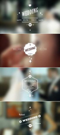 婚礼人名条日期ae模板