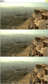 火山口悬崖实拍视频素材