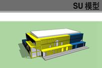 集装箱大型仓库模型