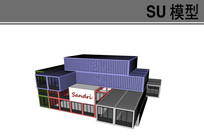 集装箱工厂仓库模型