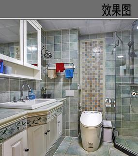 美式洗手间效果图