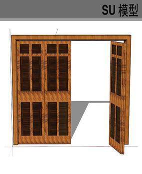 木质折叠门