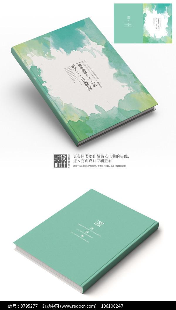 日系抽象水墨艺术封面设计图片