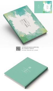 日系抽象水墨艺术封面设计