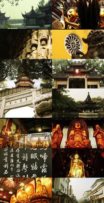 神圣庙寺典雅建筑特色动态视频