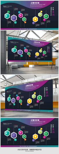时尚创意企业文化墙 PSD