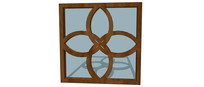 四叶草样式窗户模型