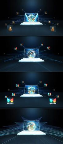 网络科技logo标志展示模板