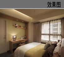 温暖的卧室效果图